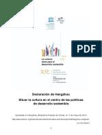 Hangzhou Declaration Spanish