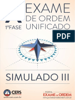 Cers-simulado Oab 1ª Fase x Exame de Ordem Unificado (12.04.13)