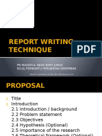 HSR REPORT WRITING TECHNIQUE.pptx