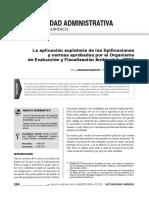 La aplicación supletoria de las tipificaciones y normas aprobadas por el OEFA