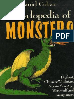 encyclopedia of monsters pdf | Yeti | Bigfoot