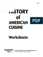 3023 History Cuisine Worksheet