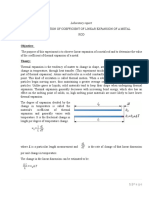 DETERMINATION OF COEFFICIENT OF LINEAR EXPANSION OF A METAL ROD