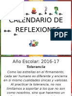 Calendario de Reflexiones Inside 2016-17