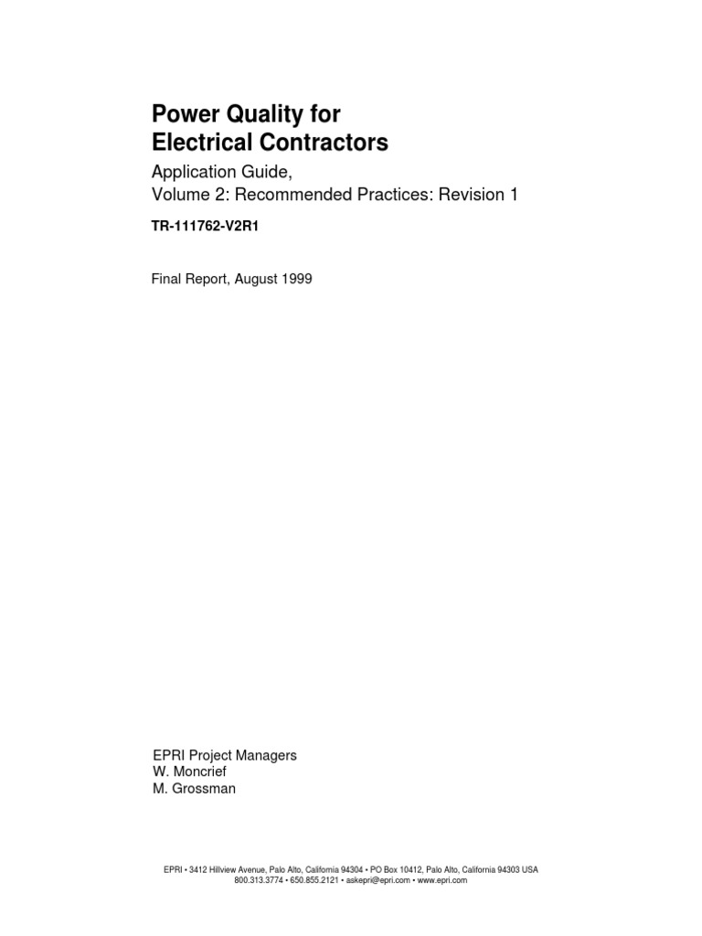 Power Quality For Electrical Contractors Applications Guide Volume 2 Electric Circuitschapter1 Basic Concept Wiring Transformer