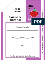 4to Grado - Bloque 4 - Ciencias Naturales