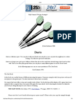 Darts - Basics and Finishes