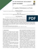 El Impacto Del Rendimiento de Logística de Comercio