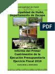 Primer Informe Cuatrimestral 2016