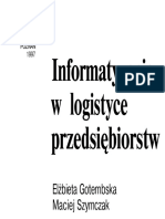 9.Elżbieta Gołembska, Maciej Szymczak - Informatyzacja w Log
