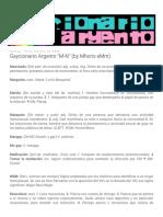 Gaycionario Argento M-N (by Mhoris EMm)