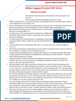 Current Affairs Pocket PDF - August 2016 by AffairsCloud