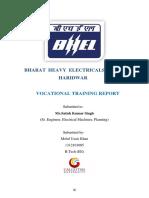 BHEL Internship Report BLOCK-1