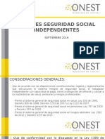 Aportes Seguridad Social Independientes