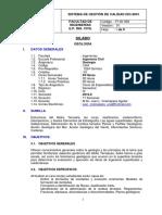 Silabo Geología 2016-II UJCM
