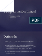 Ayudantía 1 - Programacion Lineal UTFSM
