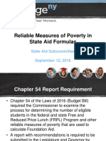 State Aid - Reliable Measures of Poverty in State Aid Formulas