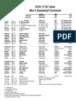 Wolfpack Schedule