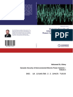 Dynamic Security of Interconnected Electric Power Systems - Volume 1