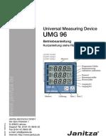 Janitza Manual UMG96 All Versions De