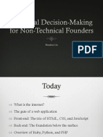 Technical Decision-Making for Non-Technical Founders