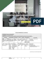 Ruta de Mejora Corregida 2016-2017