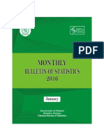 Monthly Bulletin of Statistics January 2016