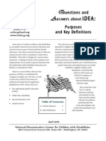 Questions and Answers About IDEA 1 Purposes and Key Definitions