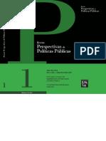 Revista perspectivas de políticas públicas
