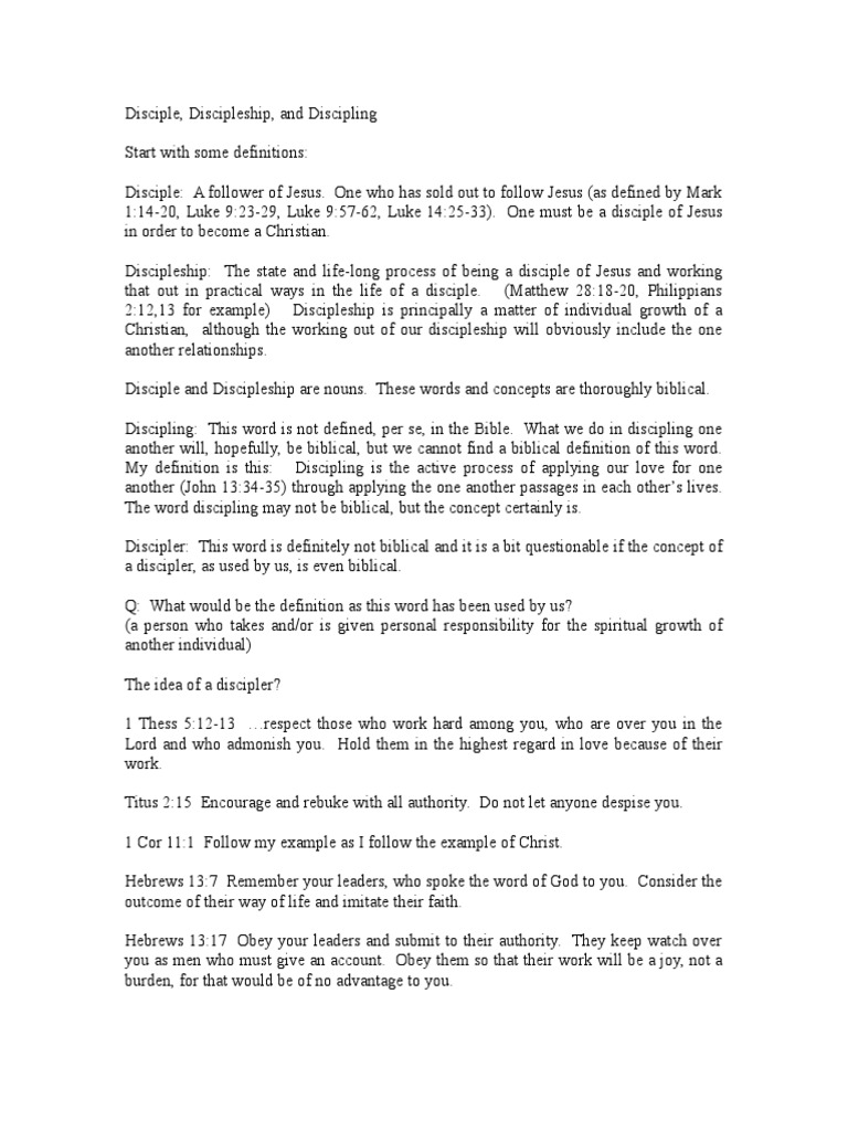 Disciple doc   Disciple (Christianity)   Bible