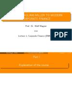 Lecture 1 - Corporate Finance