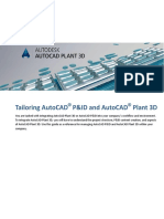 Tailoring AutoCAD PnID and Plant 3D