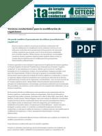 Cetecic_Técnicas Conductuales Para La Modificación de Cogniciones