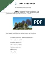 Contaminantes Lluvia Acida - Calentamiento Global