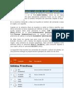 Comandos de Creación y Edición de Sólidos ACAD