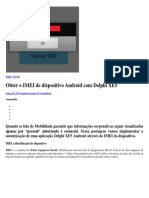 Obter o IMEI de Dispositivo Android Com Delphi XE5