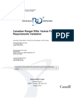 Canadian Ranger Rifle Human Factors