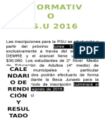 Informacion Psu 2016