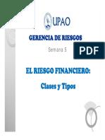 El Riesgo Financiero Clasificación