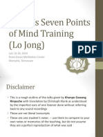Atisha's Seven Point of Mind Training