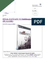 FINAL FANTASY VI Multilenguaje (Español) (PC-GAME) - IntercambiosVirtuales