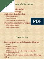 1 Epidemiology Intro