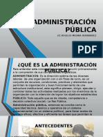 Administración Pública Presentacion Prof