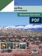 Agua Rica. Impacto ambiental. Resumen Ejecutivo