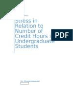 Alexander Miranda, Stress and Amt of Credit Hours