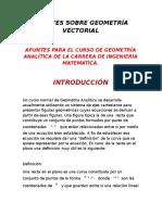 Apuntes Sobre Geometría Vectorial Completo