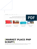 Manual Book Market Place Script PHP