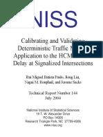 Calibrating and Validating Deterministic Traffic Models: