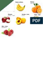 Frutas y Verduras en Kiche-español-Ingles