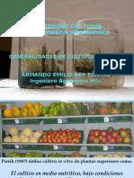 Generalidades de cultivo sin Vitro